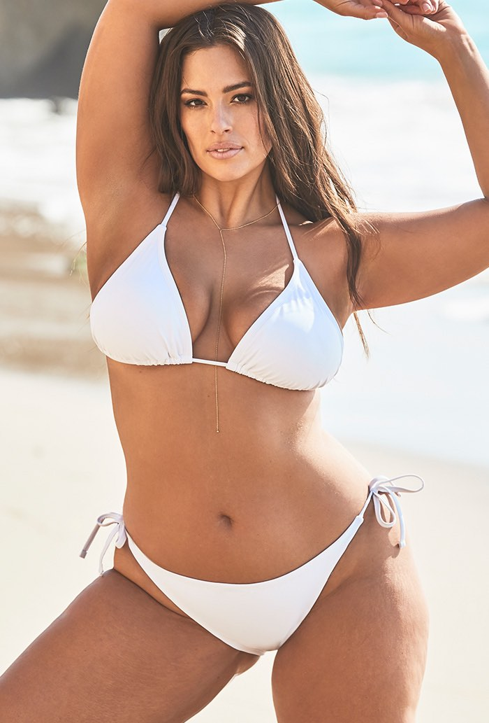 Ashley Graham Icon White Bikini Set