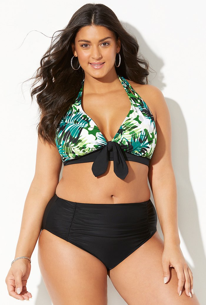 Beauty Bowtie Halter Bikini with Ruched Brief