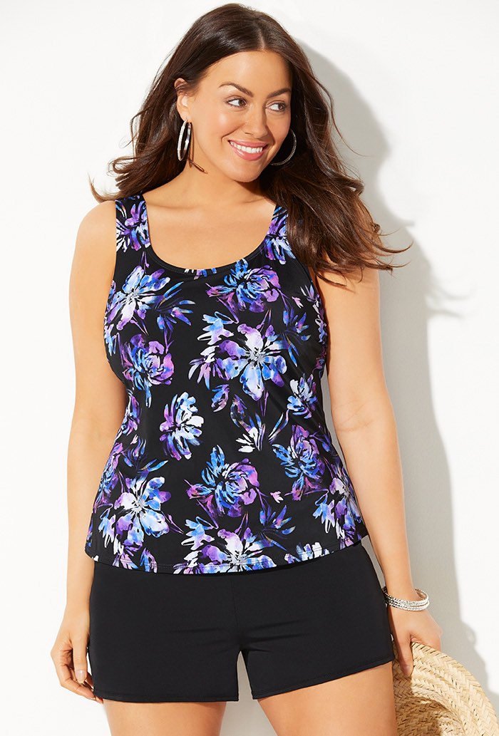 Classic Tankini with Banded Short