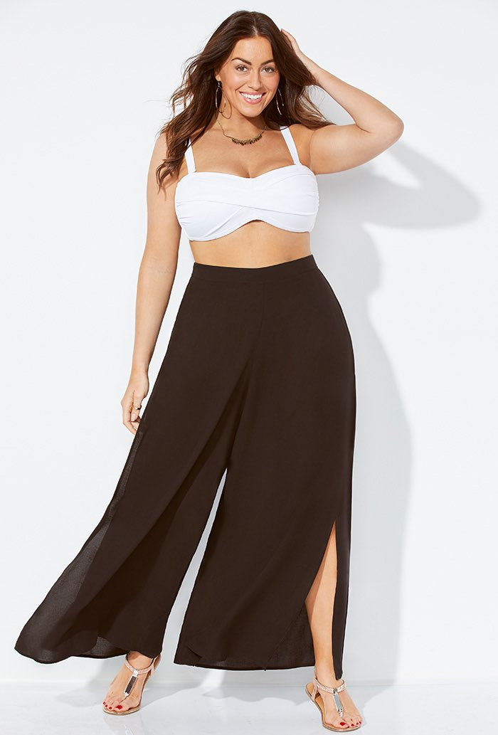 Cover Up Beach Pants with Slits