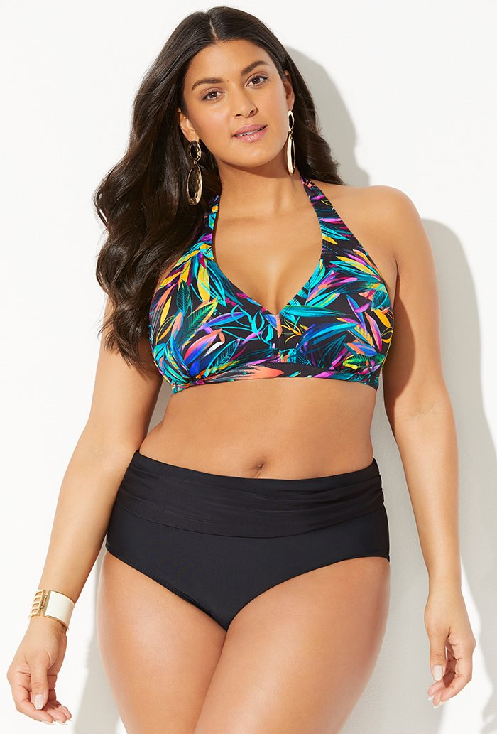 Diva Halter Bikini With Foldover Brief