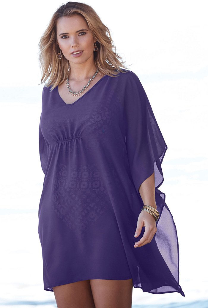 Purple Slit Shoulder Tunic