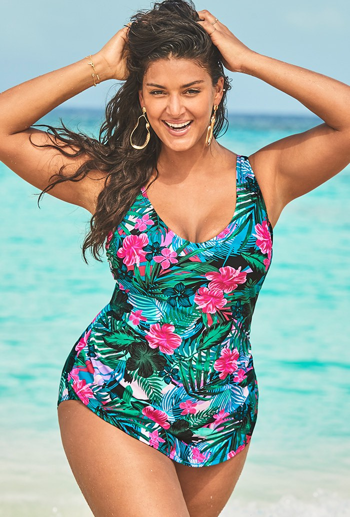 Sarong Front One Piece Swimsuit