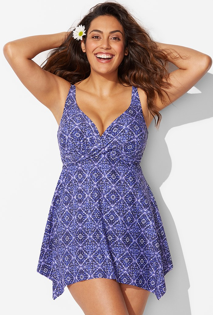 Aberdeen Rhombus Swimdress Plus Size Swimwear
