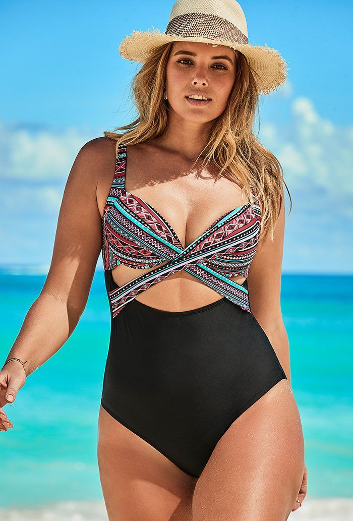 Brisbane Cut Out Underwire One Piece Swimsuit Plus Size Swimwear