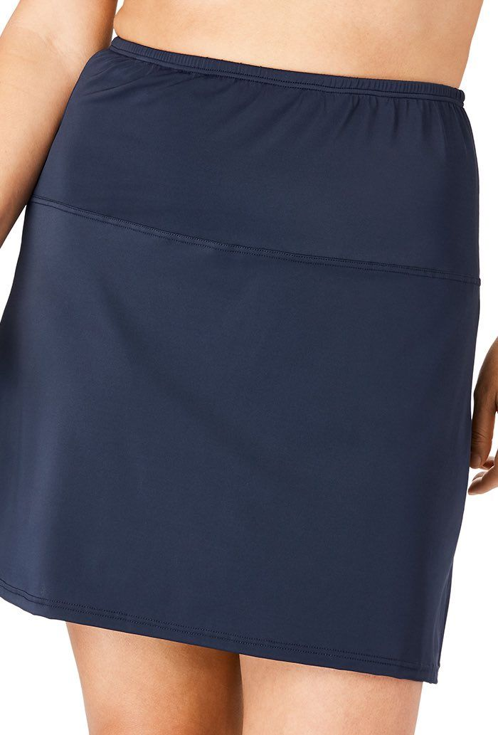 High Waisted Swim Skirt With Built-In Brief Plus Size Swimwear